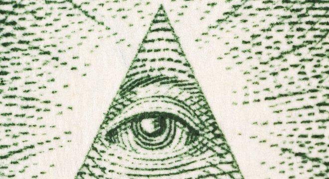A origem do triângulo com um olho que aparece nas notas de dólar