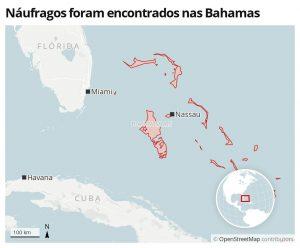 Cubanos são resgatados de ilha deserta nas Bahamas depois de mais de 1 mês naufragados